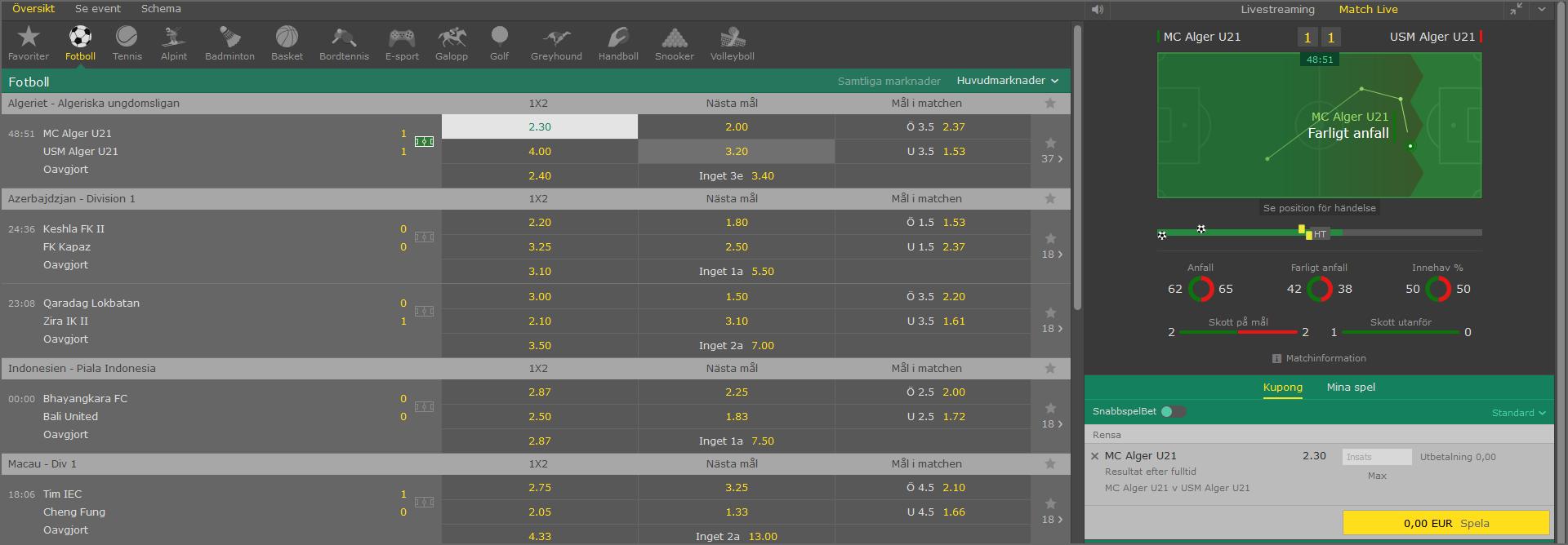 live odds bet 365