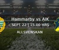 Stockholms Derby – Hammarby mot AIK med grymma odds Allsvenskan 22/9